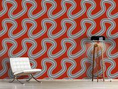 Design #Tapete Endlose Schlangen