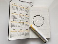 Calendario anual / Future log Bullet