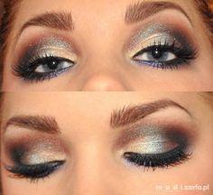 Oczy makijaż sylwestrowy