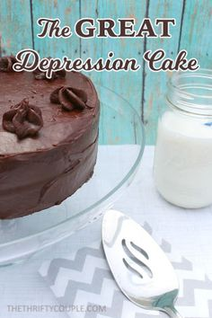 How To Make The Great Depression Cake Called Crazy Cake (Recipe Uses No Milk, Eggs or Butter)