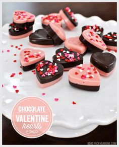 We have another treat that uses our silicone heart mold! These chocolate hearts are easy to make and look like they came out of a chocolate shop! We loved the look ofthesetwo-toned chocolate hear...