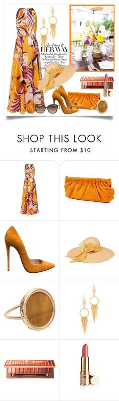 """""""Summer Glam"""" by janie-xox ❤ liked on Polyvore featuring Emilio Pucci, Rachel Comey, Christian Louboutin, Sensi Studio, Ginette NY, Vanessa Mooney, Urban Decay, Linda Farrow and SummerGlam"""