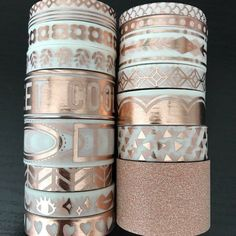 A washi sample is perfect for you if you do not want to commit to a whole roll of washi tape. These samples are perfect to decorate your planner, scrapbooks, notebooks, and just about anything. Cheap Washi Tape, Gold Washi Tape, Masking Tape, Duct Tape, Stationary Supplies, Cute Stationary, Cool School Supplies, Craft Supplies, Diy Recycling