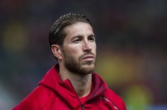 Sergio Ramos of Spain looks on prior to the FIFA 2018 World Cup Qualifier between Spain and Israel at Estadio El Molinon on March 24, 2017 in Gijon, Spain.