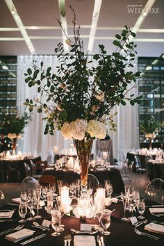 A modern, black-tie wedding infused with elegance   Photography by: Mango Studios    WedLuxe Magazine