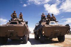 Ratels. | Ratel's and crew. Ombalantu 1988 | By: John Arthur Liebenberg | Flickr - Photo Sharing!