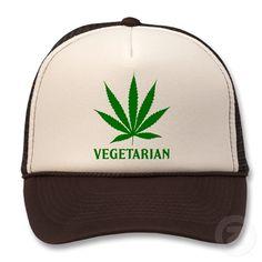 Vegetarian Marijuana Cannabis Pot Weed humor funny hat