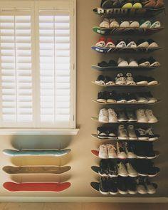 DIY // Skateboard Shelfs