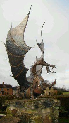 The artist is John Lopez Dragon sculpture. The artist is John Lopez Magical Creatures, Fantasy Creatures, Zebras, Sculpture Art, Sculptures, Dragon's Lair, Parks, Ange Demon, Dragon Art