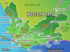 map of the west coast cape town Google Search my town