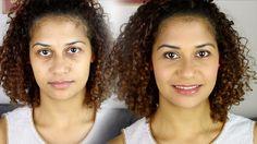 مكياج للمدرسة والجامعة من غير كريم اساس بفرشة واحدة سهل وسريع  OZO makeup