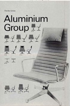 1971 Eames Aluminum Group Fehlbaum Production (early days of ) Humphrey Bogart, Charles & Ray Eames, Mid Century Modern Design, Classic Furniture, Modern Graphic Design, Mid-century Modern, Furniture Design, James Dean, Rock Roll