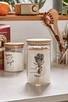 Shop Large Wooden Lid Glass Storage Jar at Urban Outfitters today. We carry all the latest styles, colors and brands for you to choose from right here. Glass Storage Jars, Jar Storage, Food Storage Containers, Kitchen Jars, Kitchen Decor, Kitchen Ideas, Kitchen Inspiration, Decorating Kitchen, Boho Kitchen
