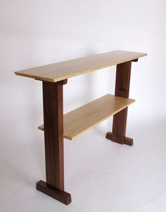 Standing Desk- Narrow table, console table, for narrow hallway table, stand up desk- Handmade Wood Furniture- CONTINENTAL COLLECTION