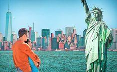 8 endroits mythiques à visiter aux États-Unis - Vous rêvez de visiter les États-Unis ? Un passage par #NewYork s'impose pour découvrir la Statue de la Liberté, le One World Trade Center et l'Empire State Building ! Image proposée par le site https://www.esta.fr/, spécialiste du formulaire #ESTA en ligne
