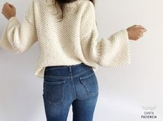 Do you dare to knit a sweater in rice stitch? Hand Knitting, Knitting Patterns, Basic Outfits, Autumn Winter Fashion, Knitwear, Knit Crochet, Vintage Fashion, Pullover, Sweaters