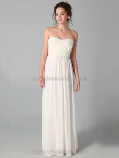Sheath/Column Sweetheart Chiffon Floor-length Flower(s) Prom Dresses -£80.29