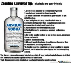 survival with alcohol