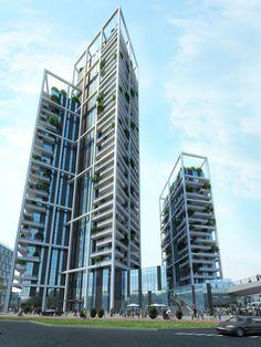 Porta Nuova Condominium   Arquitectonica