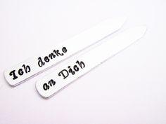 Stecche per camicia personalizzabili, set di due di RobertaValle su DaWanda.com