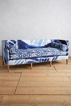 Shibori-Printed Ditte Sofa #anthropologie