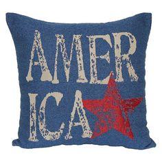 Americana throw pillow.