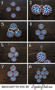 Summer Medallion Earrings Instructions