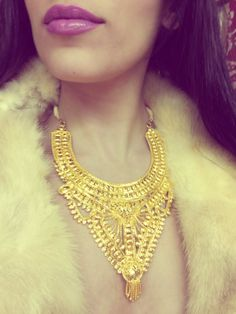 Yellow Gold Plated statement necklace