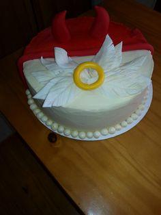 Angel/devil birthday cake