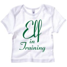 Elf in Training. Funny Christmas Baby T-Shirt. Baby Elf Outfit. Baby Elf Shirt. Holidays Baby Gift. Christmas Elf Baby Shirt. by SoPinkUK on Etsy