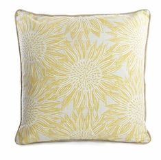 Freshen up your home décor with this sunflower cushion from George Home. In a reversible design, team it with plainer cushions from our collection. Sunflower Room, Sunflower Design, Sunflower Print, Yellow Sunflower, Plain Cushions, Printed Cushions, Asda, Soft Furnishings, Home And Garden