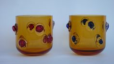 "Eric Schmitt for Quintessence Paris ""Pot-pourri SVICKA"" Scented candle in a bohemian glass vase."