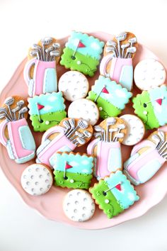 Golf icing cookies!