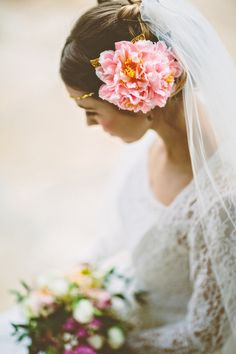 Vintage Wedding Inspiration. Floral Headdress. Photo credit Campbell Photography Creative styling, production & art direction Grace & Saviour.