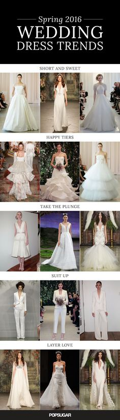 Your guide to Spring 2016 wedding trends.