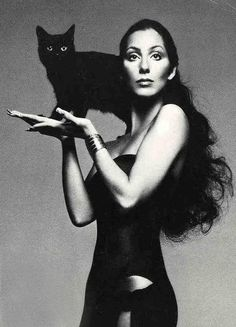 Cher & Cat by Richard Avedon, for Vogue, 1974 (OK, this one is a cheat - it's not Cher's cat, but the picture was so gorgeous...)