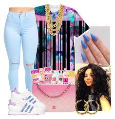 """"""""""" by queen-jamii ❤ liked on Polyvore featuring beauty and adidas"""