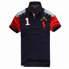 Polo Ralph Lauren Mens Polos Club Red Blue