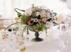 Beautiful assortment of flowers ~ very delicate! Flowers by stevenbrucedesign.com, Photography by charlottejenkslewis.com
