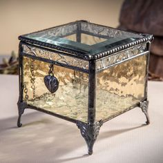 The unique blend of glass gives this #jewelry box timeless appeal, making it the perfect #gift for #Valentine's Day!
