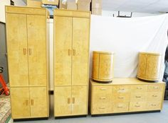 *SCENE TWO* BY HENREDON. 5 PIECES OF BEDROOM FURNITURE. 2 TALL CABINETS