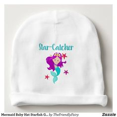 Shop Mermaid Baby Hat Starfish Gift Dreamy Baby GIft created by TheFriendlyFairy. Baby Shower Supplies, Baby Shower Favors, Baby Shower Themes, Baby Shower Gifts, Shower Ideas, Baby Announcement To Husband, New Baby Announcements, Mermaid Baby Showers, Baby Mermaid