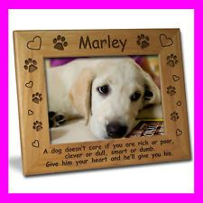 personalzed dog frames 4x6 personalized custom pet dog picture frame gift