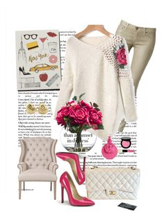 """""""romwe"""" by ozden on Polyvore featuring Garance Doré, Hudson, Bobbi Brown Cosmetics, Valentino, Orient Express Furniture, Lux-Art Silks and Chanel"""