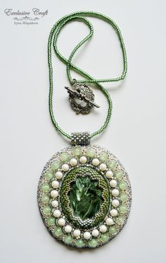 Bead embroidered pendant by Exclusive Craft