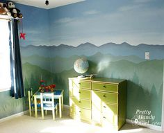 Camping Themed Boy's Bedroom :: lovely idea