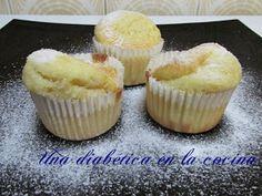 Una diabética en la cocina: Magdalenas aptas para diabéticos Muffin, Breakfast, Desserts, Food, Deserts, Sugar Free Cupcakes, Sunflower Oil, Fairy Cakes, Cooking