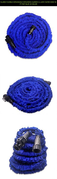 KLAREN Flexible Expandable Expanding Garden & Lawn Water Hose 50 Ft Feet Blue US Seller #gadgets #lids #storage #products #fpv #technology #drone #with #racing #parts #jars #plans #shopping #camera #clamp #kit #tech