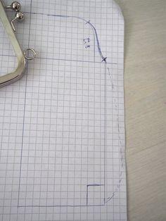Pikkulaukku pitsillä - Ohje kehyskukkaroon tai - laukkuun - Punatukka ja kaksi karhua Diy And Crafts, Arts And Crafts, Diy Bags Purses, Louis Vuitton Damier, Projects To Try, Sewing, Pattern, Couture, Coin Wallet
