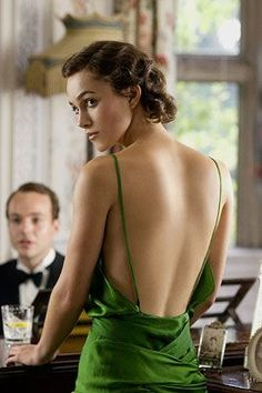 "Keira Knightly in ""Atonement"", 2007. Costume design by Jacqueline Durran."